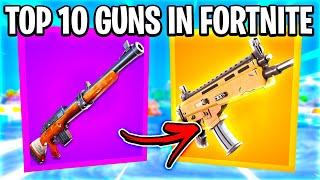 TOP 10 GUNS IN FORTNITE SEASON 3!