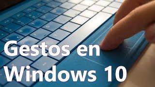 Descubre los nuevos gestos multitáctiles de Windows 10