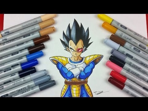 Drawing VEGETA the PRINCE of all SAIYANS | TolgArt