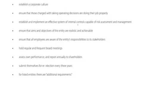 ACCA P1 Chapter 3 part a The Board of Directors