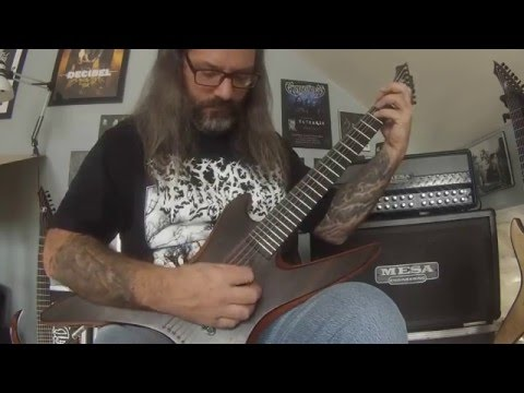Luc Lemay(Gorguts) talk about Marc Chicoine 6 string guitar (2016)