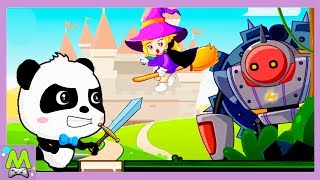 Приключения Малыша Панды против Злой Колдуньи.Ищем Волшебные Камни.Игровой Мультик