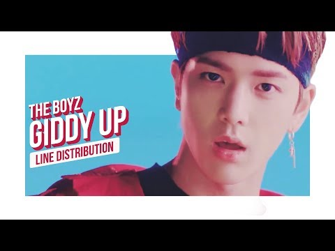 THE BOYZ - GIDDY UP Line Distribution (Color Coded)   더보이즈
