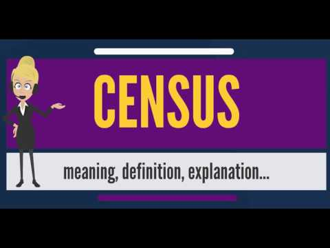 What does CENSUS mean? CENSUS meaning - CENSUS definition -  How to pronounce CENSUS