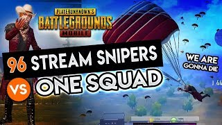 Gambar cover ONE SQUAD vs. 96 STREAM SNIPERS - Mission Impossible! PUBG Mobile