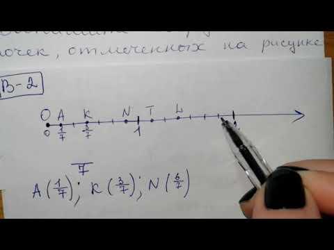 №5 Вариант 2. 5 класс Контрольная работа по Математике 3 четверть дроби на прямой, координаты