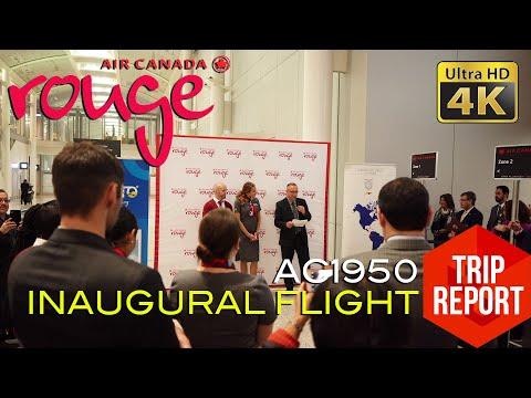 TRIP REPORT (4K) - AIR CANADA ROUGE AC1950 INAUGURAL FLIGHT YYZ - UIO