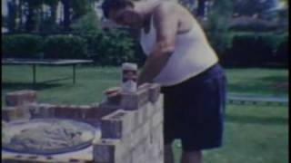 Daddy Building Bbq Pit And Neil's First House