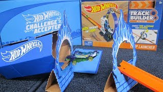 Hot Wheels Challenge Accepted July 2018 Box #4 with Hot Wheels Loop Launcher from Pley Activity Box