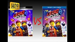 ▶ Comparison of The Lego Movie 2 The Second Part 4K HDR10 (2K DI) vs Regular Version