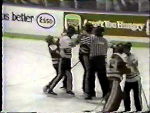 Bob Probert vs Brad Dalgarno OHL Mar 9/85