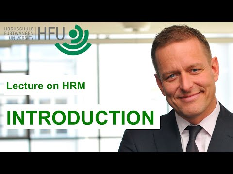 INTRODUCTION INTO HUMAN RESOURCES MANAGEMENT - LECTURE 01