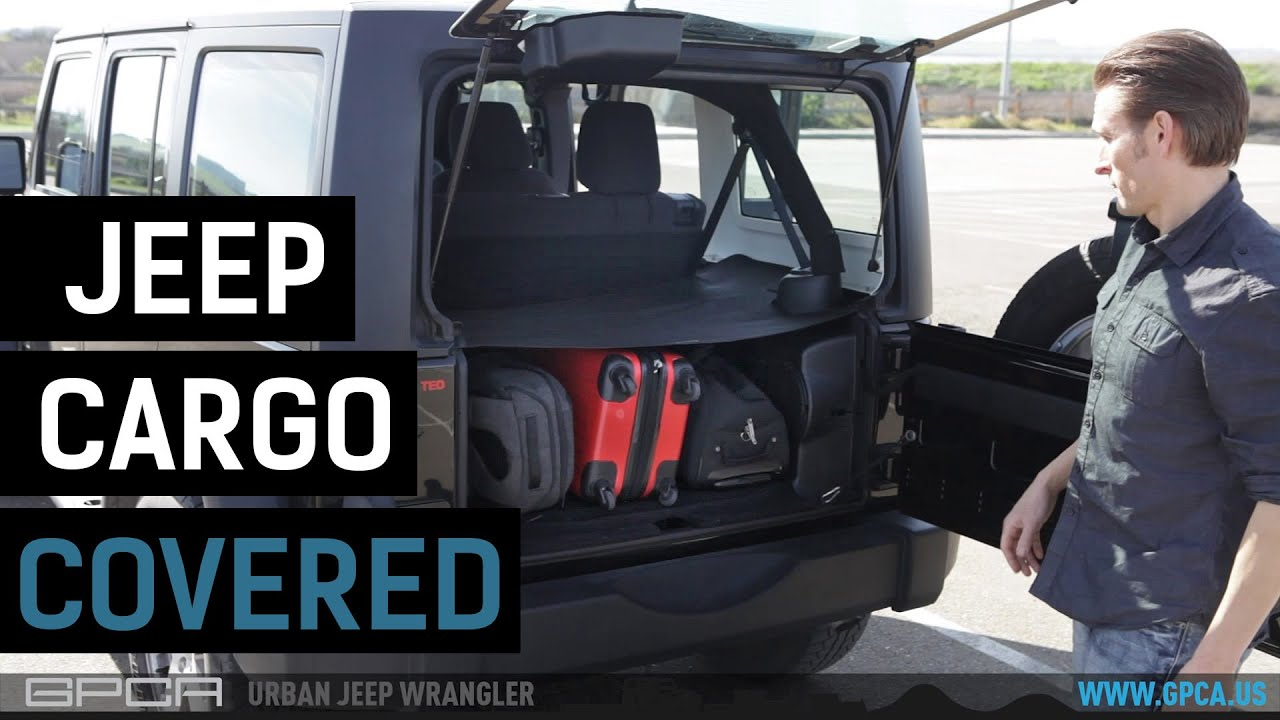 & Jeep Wrangler Unlimited Cargo Cover LITE - YouTube
