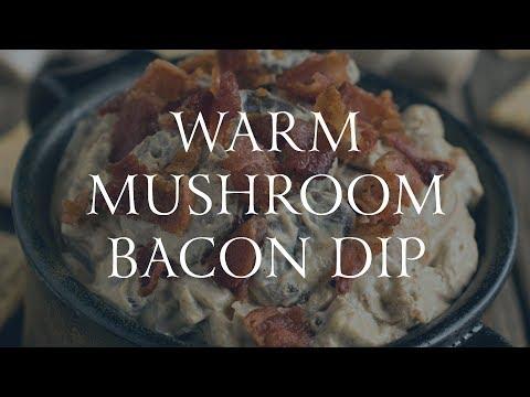 Warm Mushroom Bacon Dip