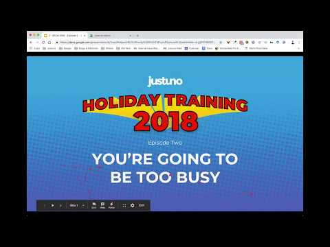 Holiday Hero Training 2018: Episode 2 - You're Going to Be Too Busy