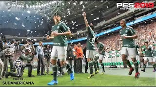 PES 2019 | Copa Libertadores Cuartos | Palmeiras vs Colo Colo | Gameplay PS4