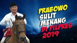 MASIH KALAH DENGAN JOKOWI PRABOWO BAKAL SULIT MENANG DI PILPRES 2019