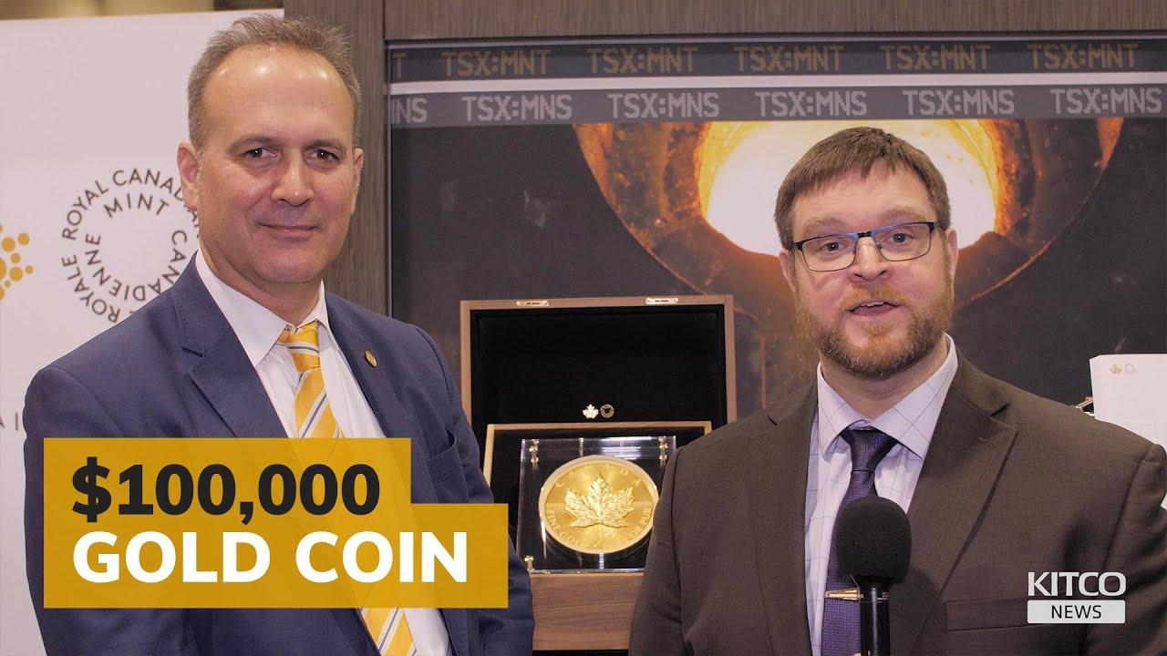 Royal Canadian Mint unveils 10kg gold maple leaf coin