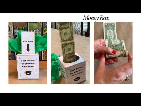 Money roll box with FREE graduation printable