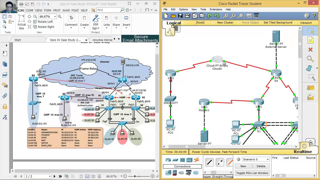 VLAN - NAT - OSPF - GRE Tunnel - HSRP - Frame Relay - YouTube