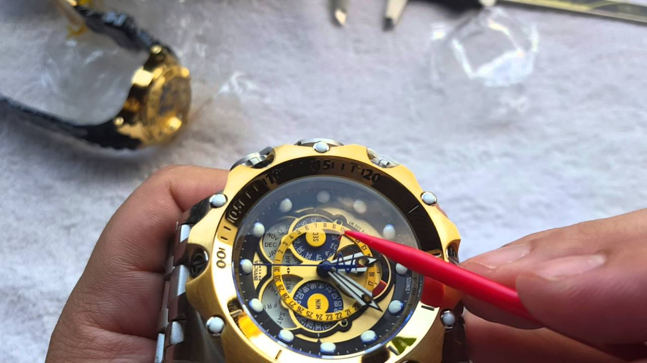 e7e013b0c84 Relógio invicta venom hybrid referência 16807 na altarelojoaria cronógrafo  suiço - YouTube