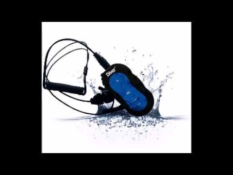Diver TM Waterproof MP3 Player  4 GB  Kit Includes Waterproof Earphones  NEW  Blue