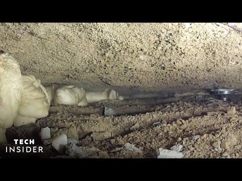 Foam raises concrete that weighs thousands of pounds