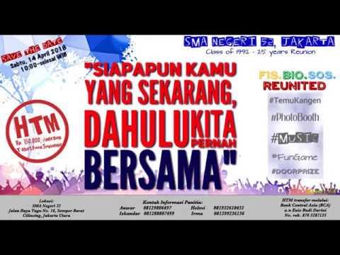 Sman 52 Jakarta Undangan 14 April 2018 Reuni Perak Lulusan 1992