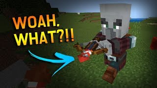 What happens if I give a Pillager... a fireworks rocket crossbow? // - Minecraft 1.9.0.2