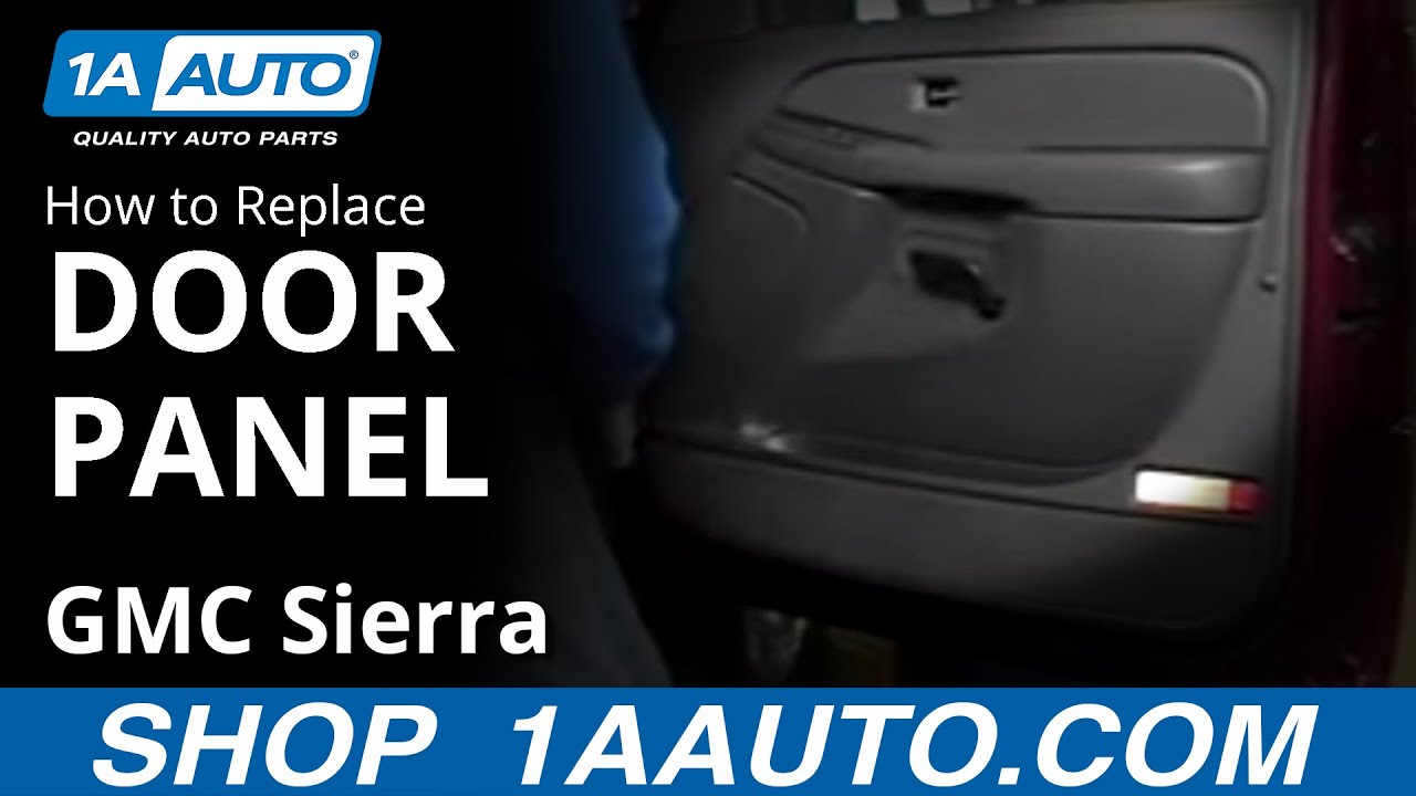 how to remove door panel 99-06 gmc sierra