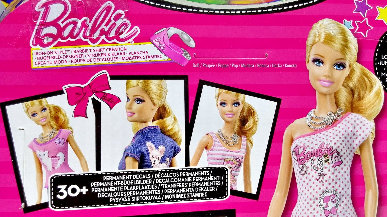 barbie iron on style doll for kids worldwide youtube. Black Bedroom Furniture Sets. Home Design Ideas