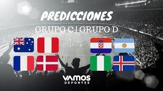 Predicción: Grupos C y D Mundial Rusia 2018