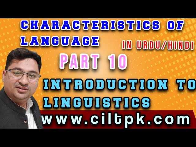 Characteristics of Language 11 in Urdu Hindi