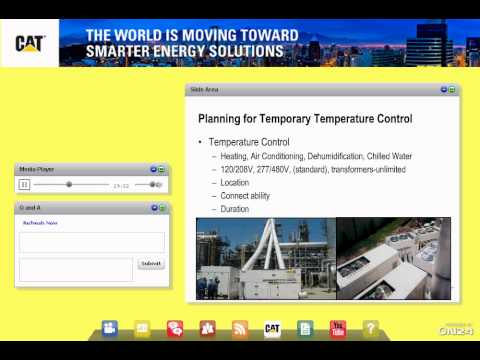 Caterpillar Webcast: Energy Solutions for Facility Managers