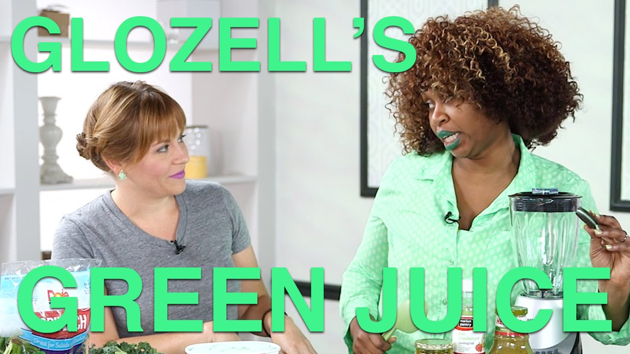 Becca Frucht and GloZell Make a Green Smoothie
