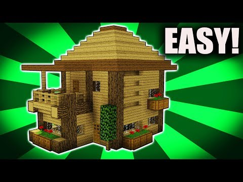 Minecraft: How To Build a VILLAGE HOUSE / Starter House Tutorial [ How to make ] 2017