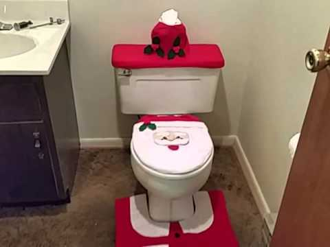 Santa Claus Christmas Toilet Seat Cover
