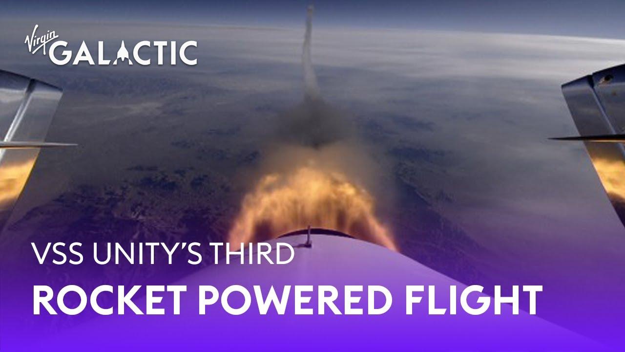 VSS Unity   Third Rocket Powered Flight