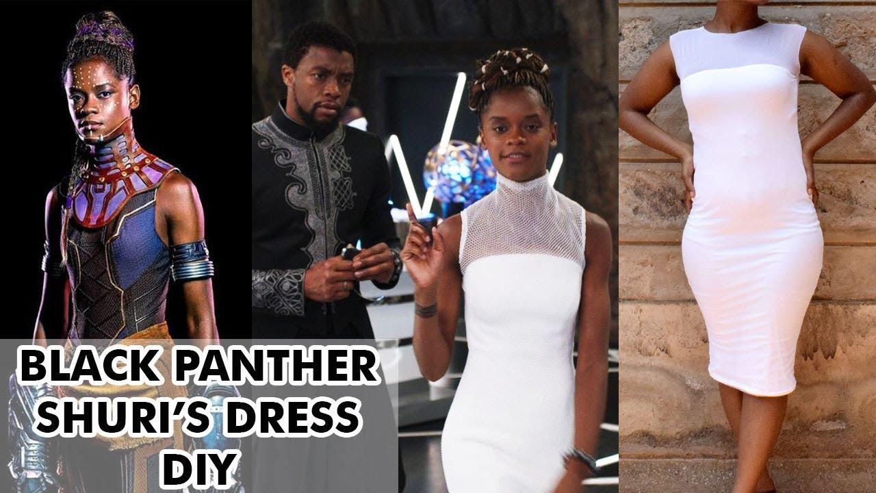 d90d2ec3f407 Black Panther Shuri Inspired dress   DIY - YouTube