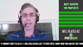 Thursday Night Football Free Prop Play and Prediction | TNF Falcons vs Panthers Free Prop Pick