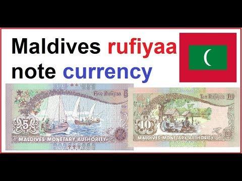 Maldives rufiyaa note currency