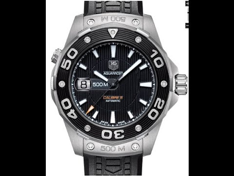 Tag heuer aquaracer 500m divers watch youtube for Tag heuer divers watch