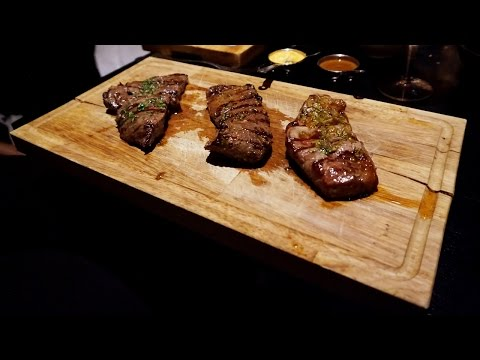 Tasting great Argentinian steak at Gaucho in London