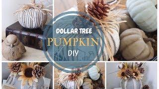 Dollar Tree Pumpkin DIY | Pumpkin Transformation | Fall Decor
