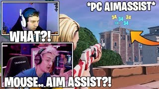 STREAMER *CONFUSED* After He Gets MOUSE Aim Assist ON PC! (WTF?!) Fortnite Moments
