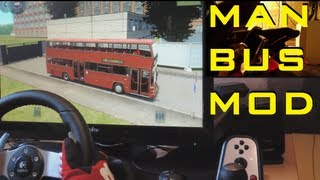 MAN SD202 Bus mod City Car Driving 1.2.5 - Logitech G27, feet/pedals fully manual clutch, simulator