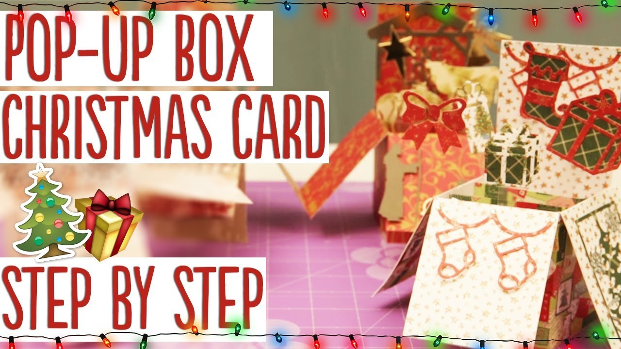 How to Make a Pop-up Box Christmas Card - YouTube