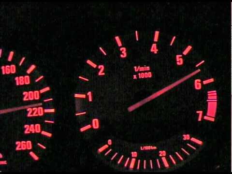 BMW E34 530i V8 Top speed  YouTube