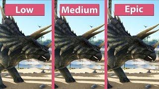 ARK: Survival Evolved – PC Low vs. Epic Detailed Graphics Comparison @1440p