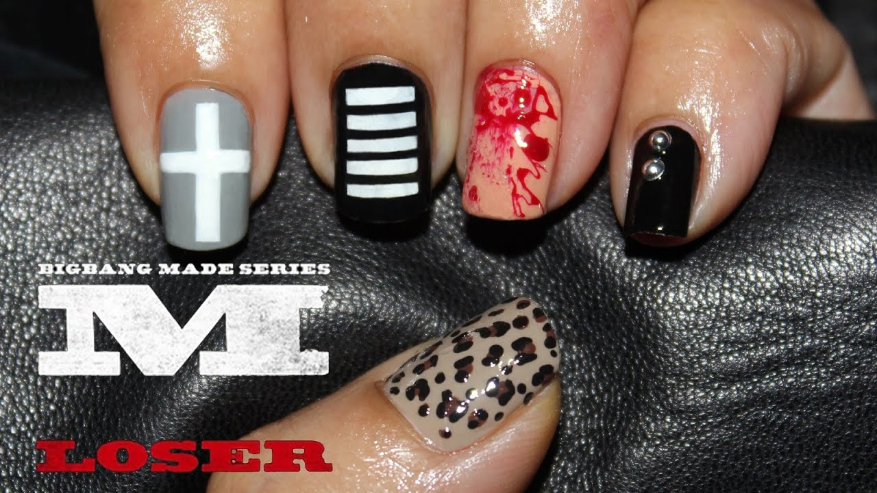 Big Bang Loser Nail Art Realasianbeauty Youtube